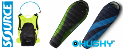 New additions Source hydration packs and Husky sleeping bags